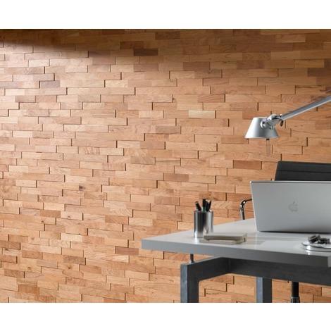 Holz Wandverkleidung Kirsche Echtholz | 3D-Optik | 1m² Holzwand Holzpaneele Wandpaneele