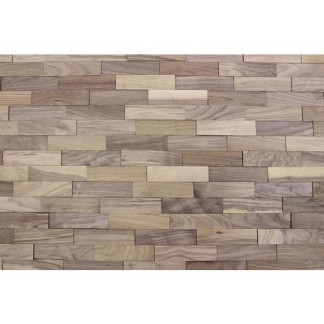 Holz Wandverkleidung Nussbaum Echtholz 3d Optik 1m² Holzwand