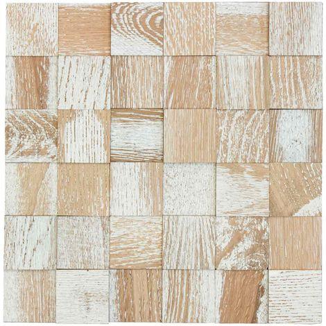 Holz Wandverkleidung Vintage 009 selbstklebende Matte 30x30cm | 3D-Optik Holzwand Holzpaneele