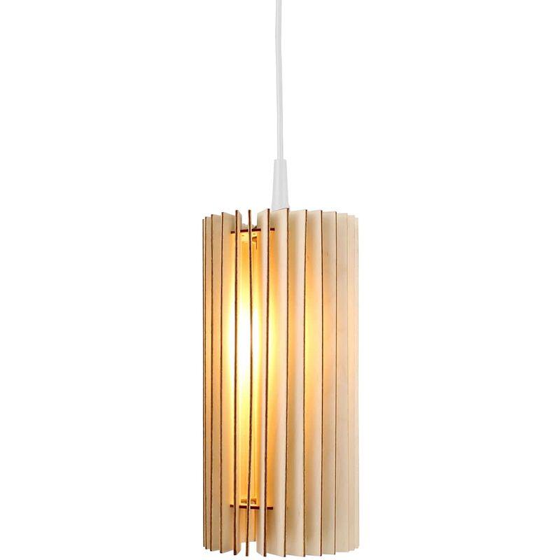 Wodewa - Holzlampe   Lux   Birkenholz Pendelleuchte   Deckenleuchte Deckenlampe Pendelleuchte Lux - Natur