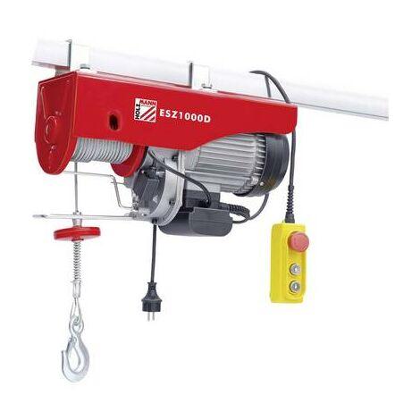 Holzmann Maschinen ESZ1000D_230V Treuil électrique Capacité de charge (avec poulie) 999 kg Capacité de charge (sans pou