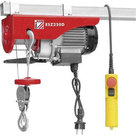 Holzmann Maschinen ESZ250D_230V Treuil électrique Capacité de charge (avec poulie) 250 kg Capacité de charge (sans poulie de guidage) 125 kg X031481