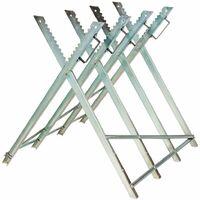Holzsägebock klappbar 4 Stammhalter - Sägebock, Kettensägebock, Sägevorrichtung - grau
