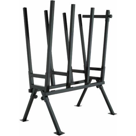 Holzsägebock mit Feststellbügel - Sägebock, Kettensägebock, Sägevorrichtung - schwarz