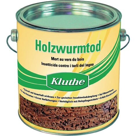Holzschutzmittel Holzwurmtod farblos 0,75l Dose KLUTHE