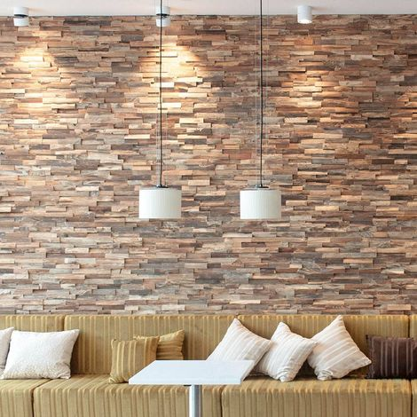 Holztapete Allias Dekorative Holzplatte Holzwandverkleidung 1m²