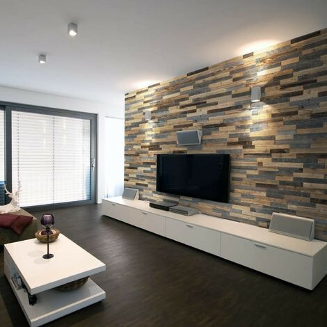 Holztapete Largo Dekorative Holzplatte Holzwandverkleidung 1m²