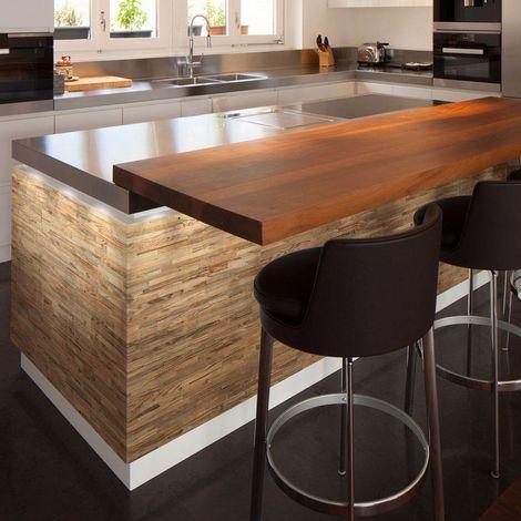 Holztapete Rohes Holz Dekorative Holzplatte Holzwandverkleidung 1m²