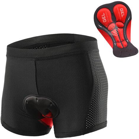 Hombres Pantalones cortos Ropa de ciclo respirable Sub-gel acolchado Mtb Velo D'Montar Pantalones cortos, Negro, S