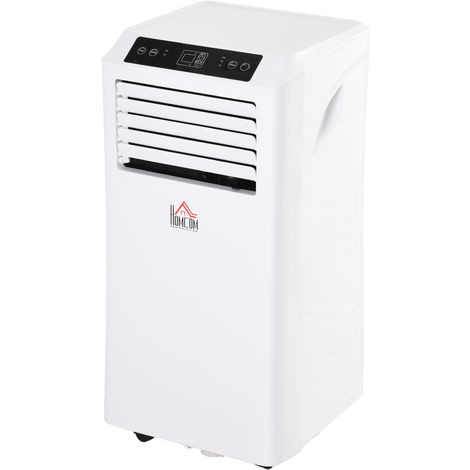 HOMCOM 1080W Mobile Air Conditioner W/ Remote Control Cooling Dehumidifying White