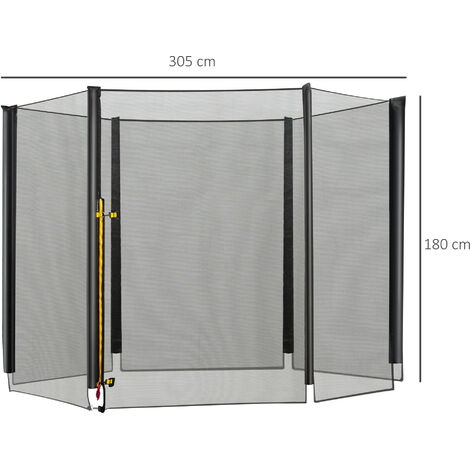 Homcom 10ft Trampoline Net Replacement Safety Net Nets Enclosure Net