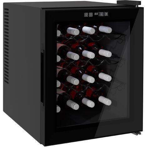 HOMCOM 11-18°C 16 Bottle Wine Cooler Mini Refrigerator Adjustable Temperature