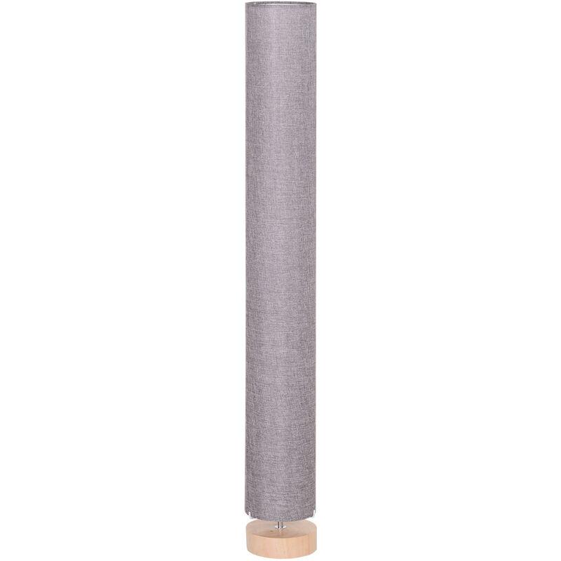 Image of 120cm Modern Floor Lamp with Fabric Linen Shade - Grey - Homcom