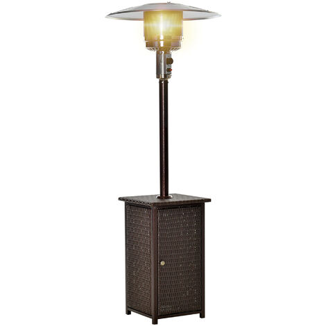 Homcom 12KW Patio Heater Free Standing Outdoor Rattan Wicker Table Top