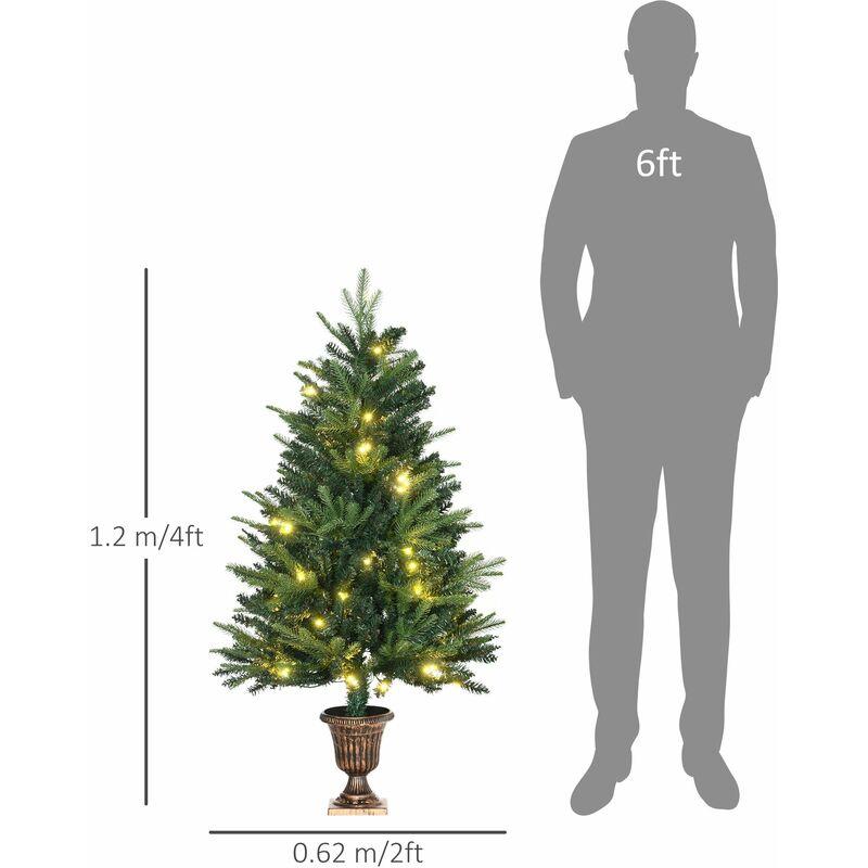 4ft Christmas Tree.Homcom 1 2m 4ft Christmas Tree Entrance Decor 750 Tips Xmas Pre Lit Tree Led With Base