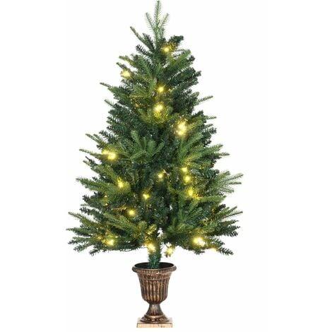 HOMCOM 1.2m 4ft Christmas Tree Entrance Décor 750 Tips Xmas Pre-lit Tree LED with Base