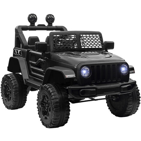 HOMCOM 12V Battery-Powered Kids Electric Ride On Car Truck 3-6 Yrs Black