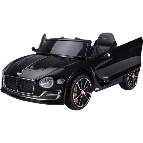 HOMCOM 12V Kids Electric Ride-On Car w/ LED Lights Music Remote Control Black