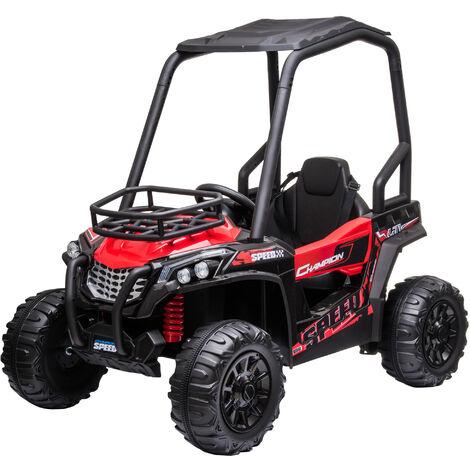 HOMCOM 12V Kids Ride On Off-Road UTV Car Outdoor Vehicle 3-8 Yrs Red