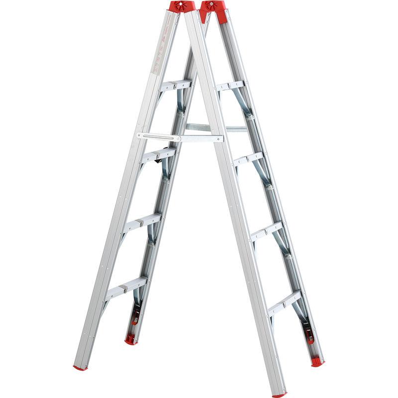 Image of 151cm Multi-Purpose Folding Aluminum Alloy Ladder w/ 4 Platforms - Homcom