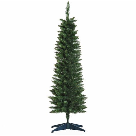 HOMCOM 1.5m 5ft Artificial Pine Pencil SlimTall Christmas Tree Xmas Holiday Décor with Stand