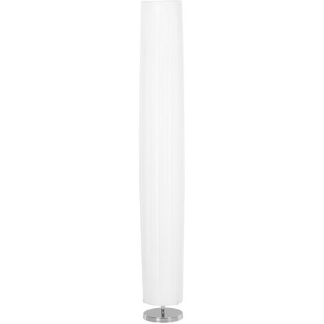HOMCOM 160 CM Tall Modern Free Standing Floor Lamp with Polyester Fabric Shade - White