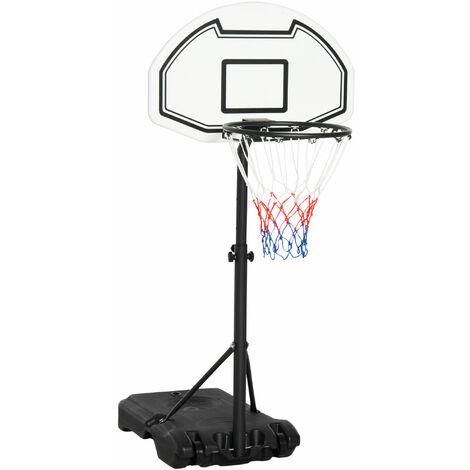 HOMCOM 163cm Adjustable Basketball Hoop Stand Outdoor Exercise Play Sport