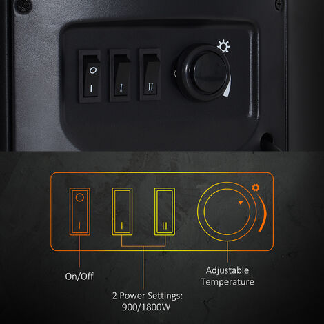 Prime Homcom 1800W Freestanding Electric Fireplace Indoor Heater Download Free Architecture Designs Scobabritishbridgeorg