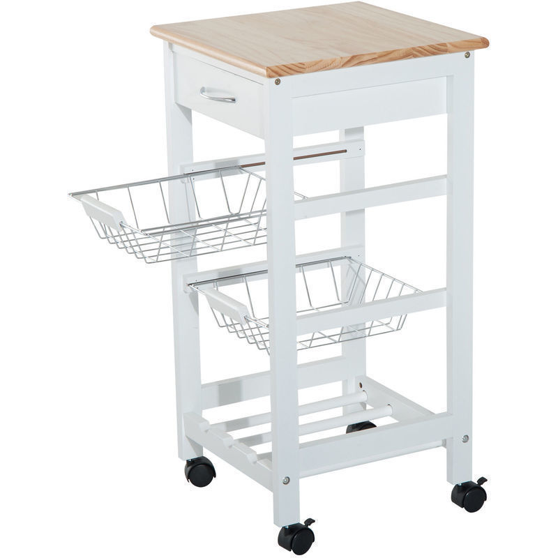 Home Kitchen Storage Trolleys Homcom 2 Tier