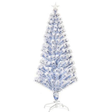 """main image of """"HOMCOM 20 Light Artificial Christmas Tree Decor Easy Store White Blue 5FT"""""""