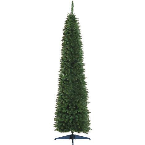 "main image of ""HOMCOM 2.1m 7ft Artificial Pine Pencil SlimTall Christmas Tree Xmas Holiday Décor with Stand"""