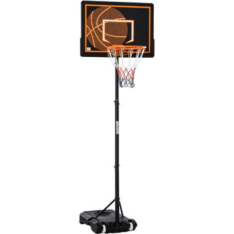 HOMCOM 2.1m Adjustable Basketball Stand Kids Play Hoop Outdoor Garden Sport