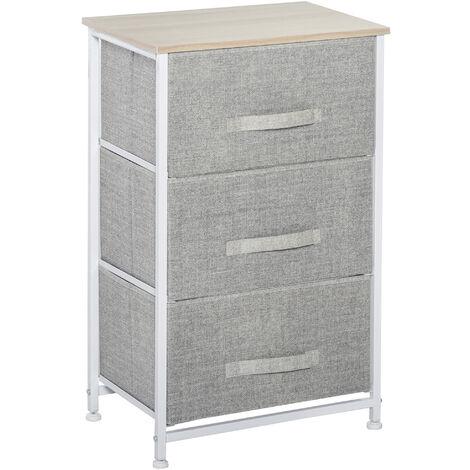 HOMCOM 3-Drawer Linen Stroage Unit Home Organiser Dresser Tower Stylish