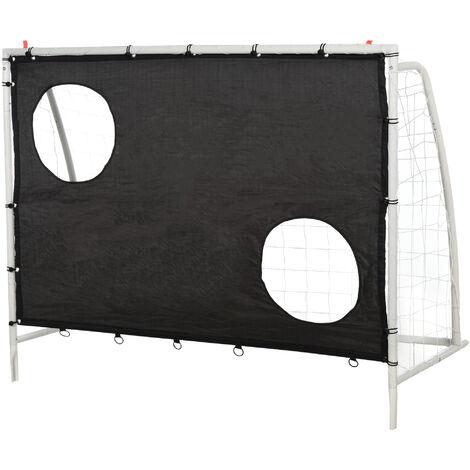 "main image of ""HOMCOM 3-In-1 Football Net Goal Shot Practice Rebounder Steel Frame Outdoor Kids"""