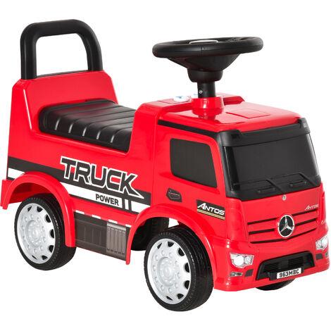 HOMCOM 3-in-1 Licensed Mercedes-Benz Ride-On Car Truck Walker 12-36 Months Red