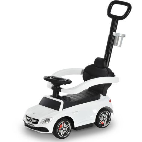HOMCOM 3 in 1 Toddler Ride On Push Car Stroller Slider Walking Car 12-36 Mths White
