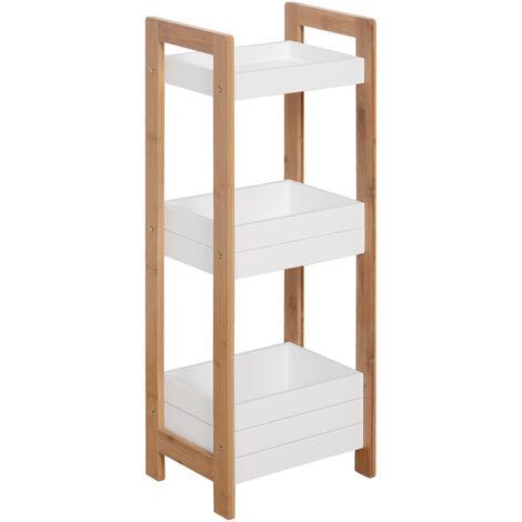 "main image of ""Homcom 3 Tier Storage Shelf Bamboo Organiser Bathroom Shower Caddy Display Rack Baskets"""