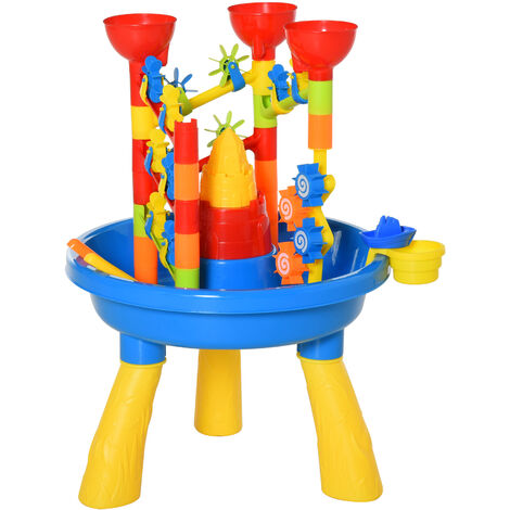 HOMCOM 30 Pcs Sand & Waterpark Play Set Beach Creative Toy Set Outdoor Activity