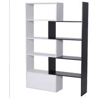 HOMCOM 360° Rotating Bookshelf Display Unit Home Storage Shelves White & Black