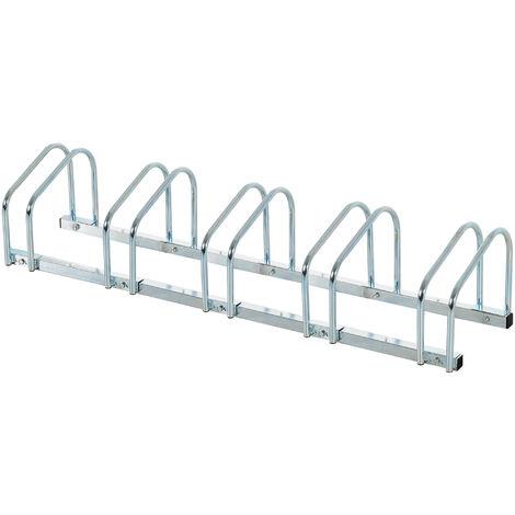 Homcom 3er Fahrradständer Radständer Aufstellständer Fahrrad Ständer Stahl verzinkt