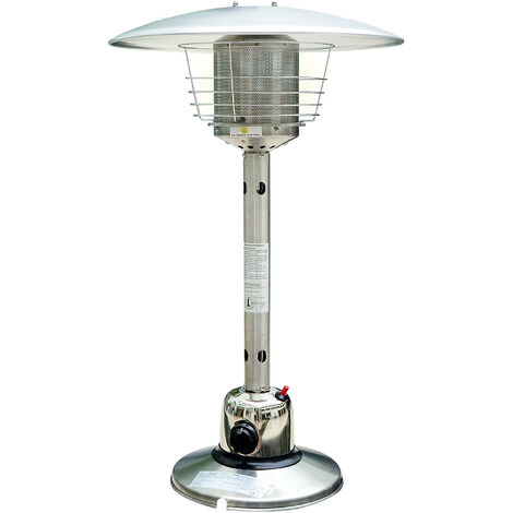 Homcom 4 KW Outdoor Table Top Stainless Steel Gas Heater