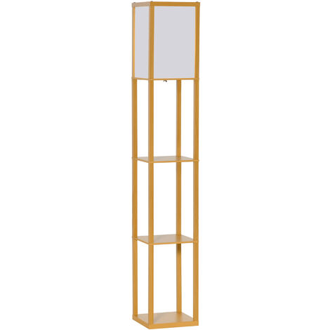 "main image of ""HOMCOM 4-Tier Floor Lamp Light Living Home Storage Shelf Bedroom Modern"""