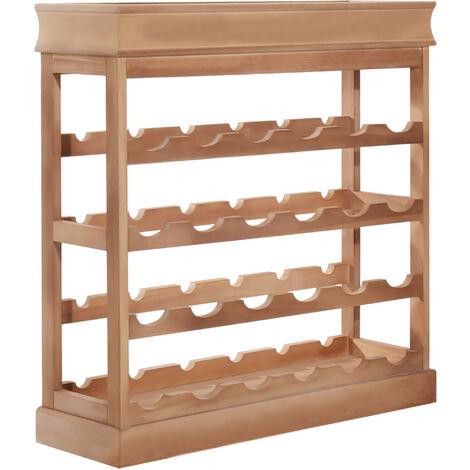 HOMCOM 4-tier Wooden Wine Rack Board 24 Bottles Stackable Display Brown