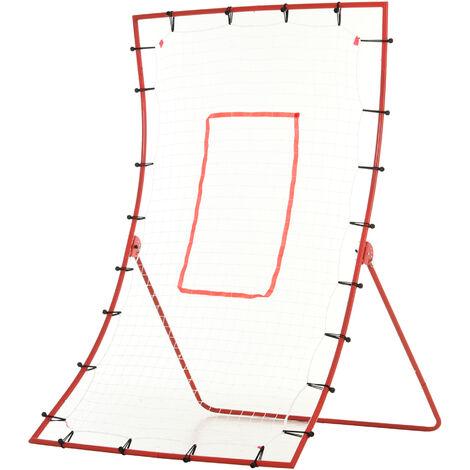 HOMCOM 5 Angles Adjustable Rebounder Goal Baseball/Football Daily Training