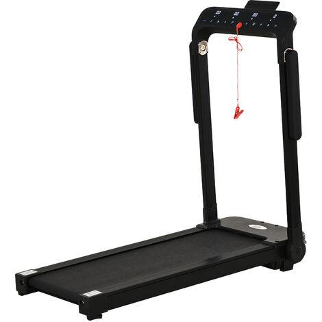HOMCOM 500W Foldable Electric Treadmill Fitness Safety Lock LED Screen Black