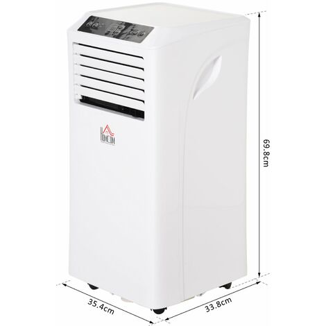 HOMCOM 557W Mobile Air Conditioner W/ Remote Control Cooling Dehumidifying White