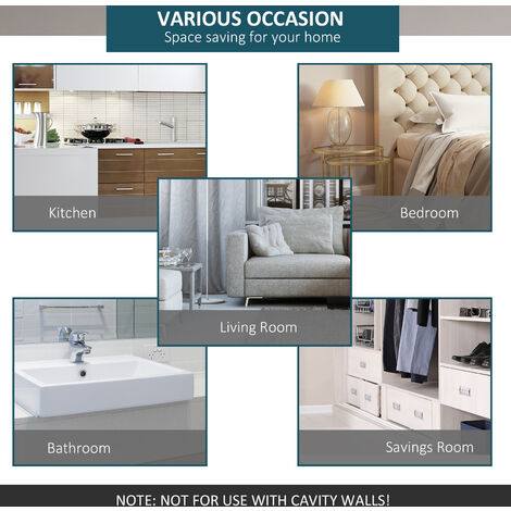 HOMCOM 6.6 FT/ 2000mm Carbon Steel Sliding Barn Door Kits Hardware