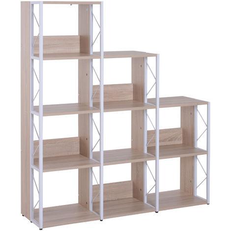 HOMCOM 9 Cube Shelf Unit Rack Display Shelves Home Office Organiser Plants Living Room