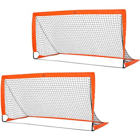 HOMCOM 90x180cm Folding Football Goal Outdoor Sports Exercise Soccer Kids