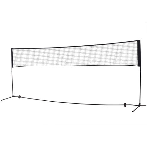 HOMCOM Adjustable Badminton Net Outdoor Sports Exercise Portable w/ Carry Bag
